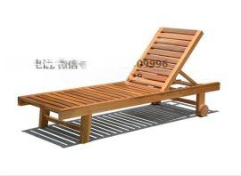 酒店户外木制沙滩椅 木躺椅