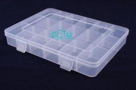 四叶草18格 竖隔板可拆组合元件盒式加厚收纳零件盒螺丝工具盒零件箱盒