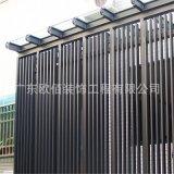50*50外牆裝飾條形氟碳黑色鋁方通幕牆