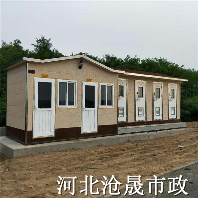 青岛移动厕所,青岛防腐木生态环保厕所厂家