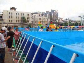 黑龍江大興安嶺大型支架水池好玩方便實用易安裝拆卸
