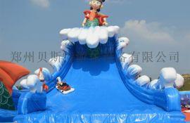 北京大型水上乐园支架游泳池组合充气滑梯好厂家贝斯特