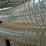 青岛木工吸尘管陶瓷粉尘抽吸管PU钢丝伸缩管