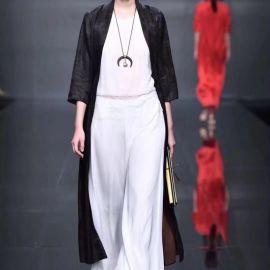 北京大红门一线女装折扣品牌真丝碎花连衣裙