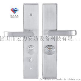 宏力锁厂直销海南省各市县防盗门执手锁,室内门锁