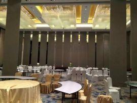 轨道隔断移动屏风墙  深圳酒店活动隔断推拉门设计