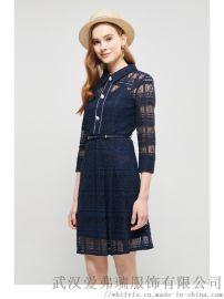 服装拿货一般多少钱蒂米丝儿刺绣修身裙子