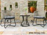 編織帶鋁板椅T-FY1902|戶外傢俱|花園傢俱