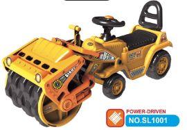 尚乐可推工程车 可坐可骑大号滑行工程压路机 仿真儿童挖机学步车