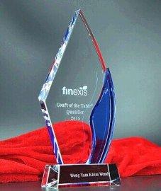 新款**水晶奖杯奖牌免费刻字个性定做员工年终颁奖礼品