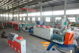 **机械1200-2100PC中空格子板生产线