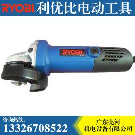RYOBI 利优比 电动角磨机100mm 800w G-1007 角度打磨机