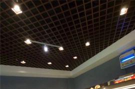大格子铝格栅 造型吊顶铝格栅 0.4厚白色铝格栅