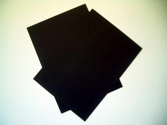 黑卡纸(QS) 400克黑卡