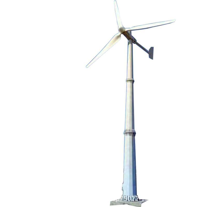 家用电器空调用电5千瓦小型风力发电机厂家直销3叶永磁风力发电机