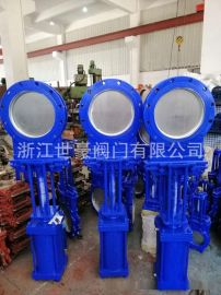 气动圆形刀闸阀 气动插板阀 铸钢DN300