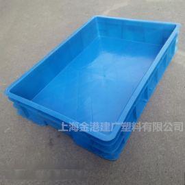 供应 加厚塑料周转箱 575*390*105 汽车配件箱 仓储物流转用塑料