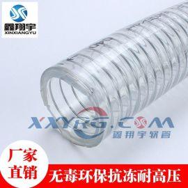 鑫翔宇/32*41mm*40m/厂家批发无毒耐寒抗冻PVC透明钢丝增强软管