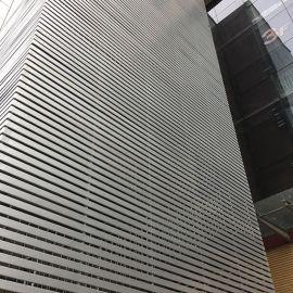 广告门头条形铝扣板 白色烤漆喷粉84mm宽弧形铝条扣装饰