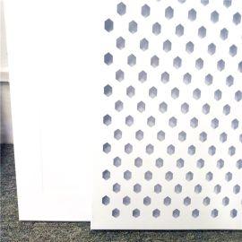 穿孔铝天花厂家加工定制哑光白乱孔铝扣板顶