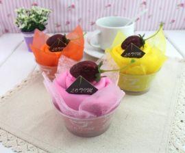 厂家直供订制广告创意促销礼品环保涤纶印花蛋糕造型购物袋