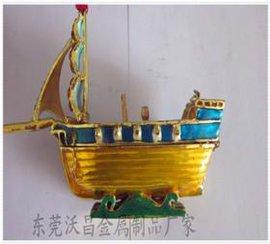 深圳金属工艺礼品厂家 供应合金帆船首饰盒
