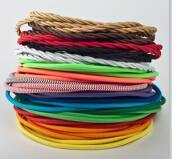 厂家直销 VDE UL SAA认证 彩色编织线 电源插头线