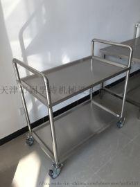 天津手推车厂家 洁净室不锈钢带护栏手推车 平板车