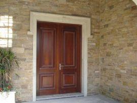 上海木门厂家 订做别墅双扇大门 雕花双开实木门 豪华双开大门 纯实木雕花木门
