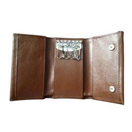 定做供应真皮钥匙包上海皮具厂定做生产钥匙包经典简约钱包