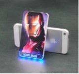 新款 七彩水晶移動電源 發光充電寶 內雕LOGO創意個性禮品