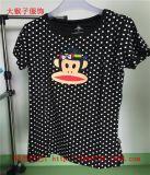 大嘴猴批发厂家系列新款夏季女上衣休闲紧身女T恤圆领显瘦