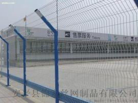 三角折弯双边丝护栏网,双边丝护栏厂