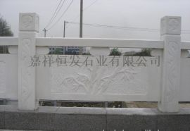 中国黑石栏杆 汉白玉护栏 芝麻灰栏板 五莲花栏杆 青石石栏杆