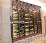 酒店別墅恆溫恆溼酒窖設計 不鏽鋼恆溫酒櫃 酒架 珠寶櫃定製廠家