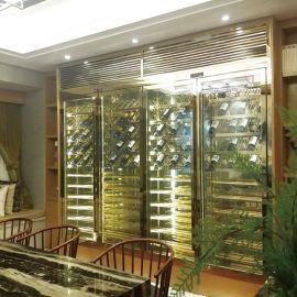 KTV 酒店不鏽鋼酒櫃定制 304不鏽鋼恆溫酒櫃 紅酒展示架