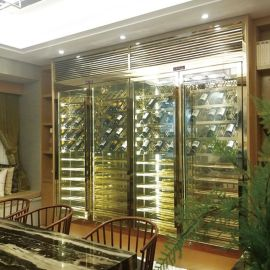 KTV 酒店不锈钢酒柜定制 304不锈钢恒温酒柜   展示架