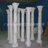 广州雕塑厂家低价直销玻璃钢仿大理石柱子罗马柱欧式柱定制