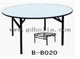 宴会圆桌,折叠餐桌,PVC酒店桌,佛山酒店家具厂