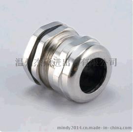 杰硕 M12*1.5 镀镍黄铜 M型金属电缆固定头 电缆接头