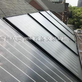 江苏常州别墅区平板太阳能集热工程完工