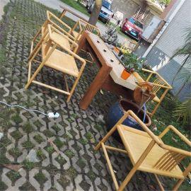 流水茶台香樟木老石板禅意茶桌新中式创意循环水茶艺桌实木茶几