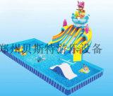 遼寧鞍山水上樂園兒童充氣水池廠家定做多廣場新款