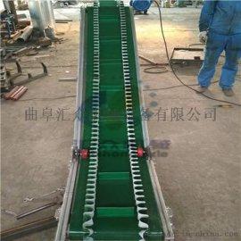 沙袋用圆管护栏皮带输送机 都江堰市高效爬坡皮带机