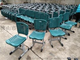 可升降课桌椅厂家,广东工厂定制塑钢学校学生桌椅