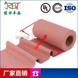 背粉红矽胶布导热硅胶垫片 软性绝缘导热硅胶片
