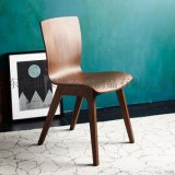 北歐現代實木彎板椅曲木椅廠家直銷PC-457