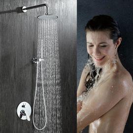 绮美斯酒店浴室暗装圆形花洒手持花洒雨淋式淋浴套装