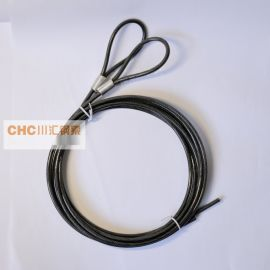 供应包胶透明黑钢丝绳,电脑锁  包胶钢丝绳