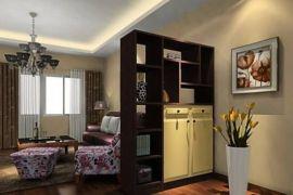 各种风格置物架 定制玄关客厅实木隔断柜